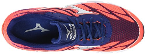 Mizuno Wave Hitogami 3, Chaussures de Running Compétition femme Rose - Pink (Fiery Coral/Glacier Gray/Blue Depths)