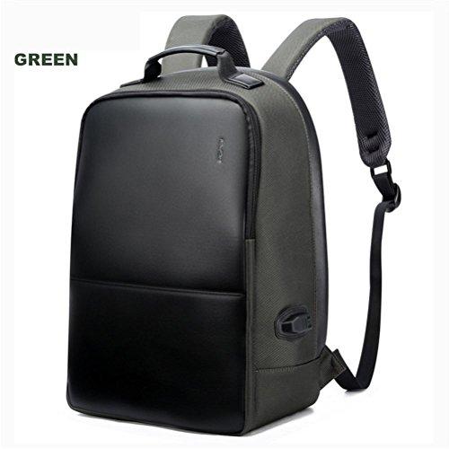 MATEIIN Anti-Diebstahl-Business-Rucksack 15.6-Zoll-Laptop Wasserdicht mit USB-Port Lade Reisetasche Funktionelle Rucksack Leichte Rucksack für Männer, Large Green 751-004503 -