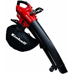 Einhell 3433290 GC-El 2600 E Soffiatore/Aspiratore Elettrico per Foglie, 2.600 W, Rosso/Nero