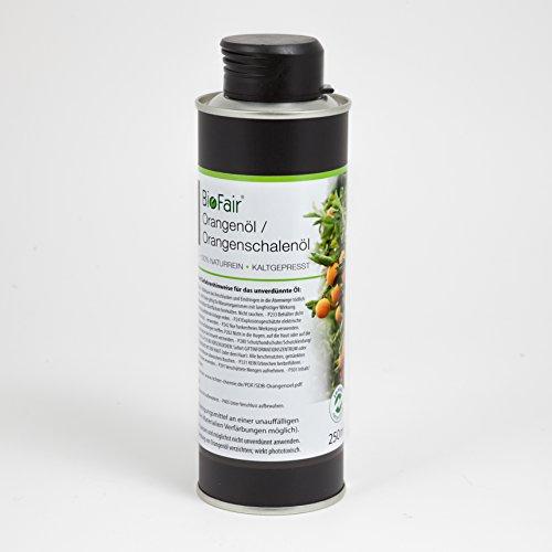Orangenöl / Orangenschalenöl von BioFair® 100% naturreines, ätherisches Öl, kaltgepresst - 250 ml