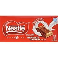 Nestlé Chocolate con Leche Extrafino - Pack de 3 x 125 g - Total: 375 g