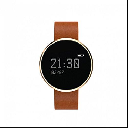 Fitness Armbänder mit Pulsmesser Aktivitätstracker Bluetooth Smart Armbanduhr mit Schrittzähler Herzfrequenz Kalorienzähler und Schlaf-Monitor Anrufen/SMS Benacrichtigen fitness uhr mit Gesundheit und Aktivität Überwachung für Android und iOS