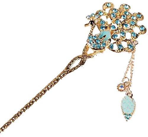 Classical Moods épingle cheveux Ornements Barrette Chapeaux Crown Blue