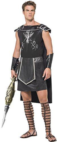 Gladiator-Kostüm, für Herren, komplettes Outfit, in Schwarz