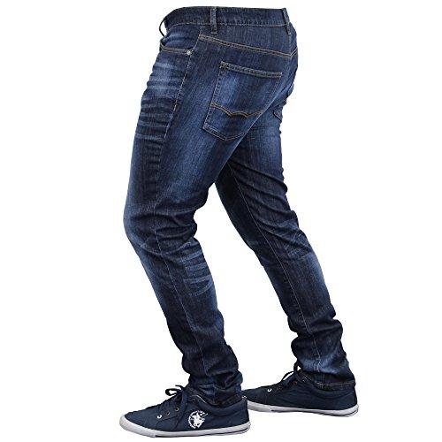 Herren Jeans Denim Hose Dehnbar Freizeithose Designer Mode New Indigo - SB09