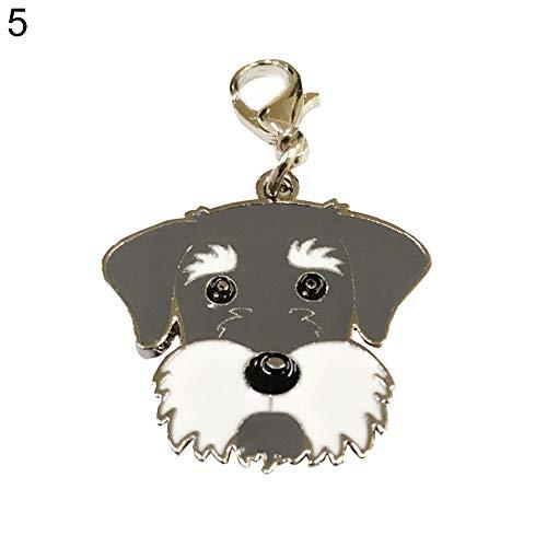 gzzebo süßer Hund Form Anhänger Schlüsselanhänger, Tasche, Geldbörse, Hängeornamente Liebhaber, Freunde, Kinder Geschenk, Metall, 5 -