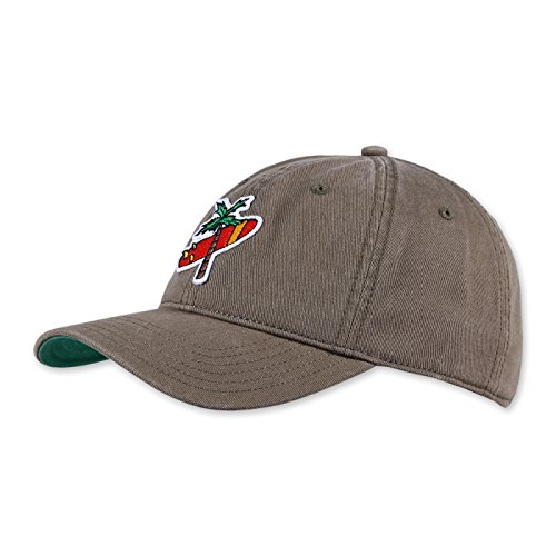 COASTAL Homme Casquette - Palm Cross (olive) - Curved Visor Dad Cap