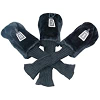 3 Pack of Deluxe Golf Club Head Covers by Longridge