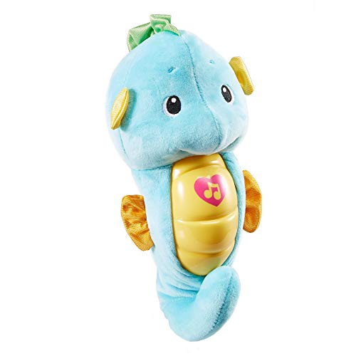 Fisher Price Caballito de mar dulces sueños azul, juguete de cuna bebé (Mattel DGH82)