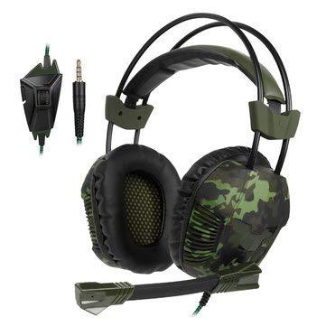 SA-921 PLUS Stereo-Gaming-Headset mit Mikrofon-Line-Steuerung, Ohrhörer und Lautsprecher, On-Ear- und Over-Ear-Kopfhörer