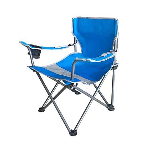 ZE Rückenlehne Stuhl Home Lazy Chair Lounge Chair Klappstuhl Esszimmerstuhl Tragbarer Außenstuhl Angelstuhl (Farbe: A) (Color : B) -