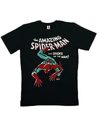 Marvel Comics - Spiderman T-Shirt 100 % coton organique (agriculture biologique) - noir - LOGOSHIRT