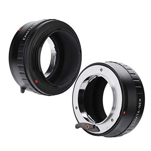 Topiky EXA-NEX Objektiv fassung Adapterring,Premium Adapterring für manuelle Fokussierung/unendliche Fokussierung für Exakta-Objektiv für spiegellose Sony E-Mount Kamera mit tragbarem Sicherungsstift