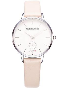 VICTORIA HYDE Damen Uhren Sommer mit Leder Band Beige für Frauen Modern Quarz Armbanduhren Markenuhren Wasserdicht...