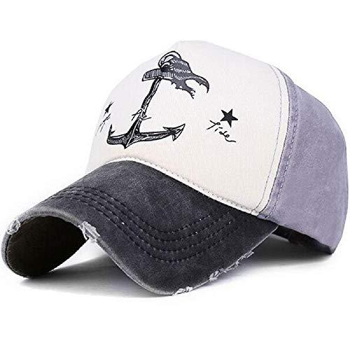 Lvntsx Paar-Hut für Baseballmützen aus Reiner Baumwolle des Mannes und der Frau tun alte Piratenschiff-Anker-Hüte