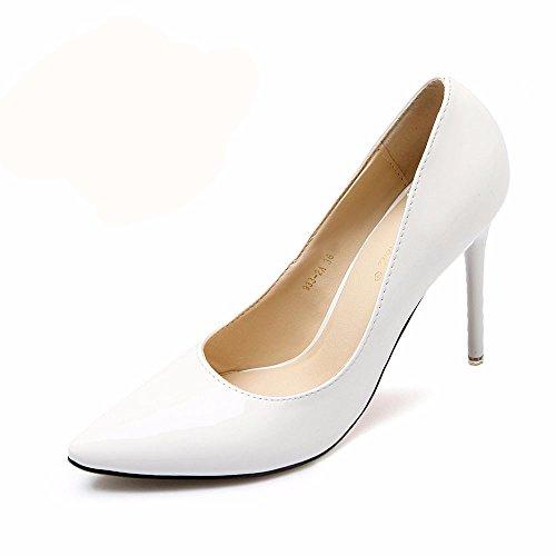 HXVU56546 Il Nuovo Elegante E Tacchi Alti In Primavera E In Autunno Scarpe Donna Single Scarpe Scarpe Da Lavoro White