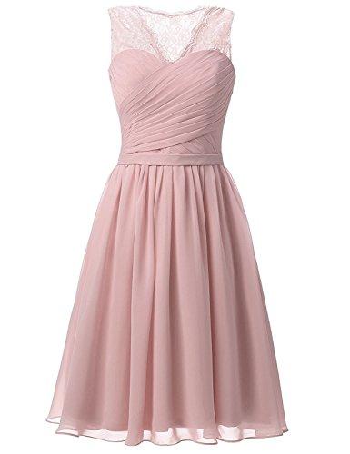 Aurora dresses Damen Abendkleider Elegant Kurz Partykleider Chiffon Ballkleid Brautjungfern...