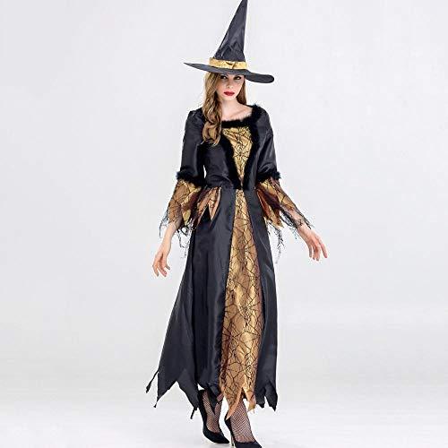 Shisky Cosplay kostüm Damen, Halloween Hexe Kostüm Frauen Make-up Party Thema Bühne Partyoutfit