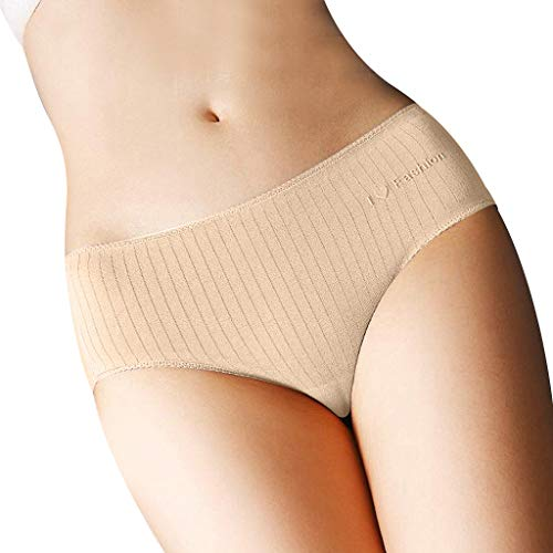 TDFGCR Frauen Sexy Dessous Volltonfarbe Open Thong Höschen G-Pants Dessous Pyjamas-Caqui M