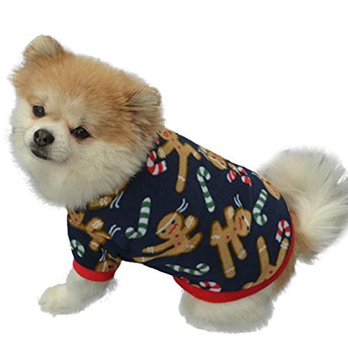 Harley Davidson Hund Kleidung (Theshy Hunde Hoodie Sweatshirt Mit Kapuze Mantel Kleidung Pullover Haustier Welpen T-Shirt Weste Hund T Shirt Kleid Weihnachten Herbst Winter Warme Bestickt)