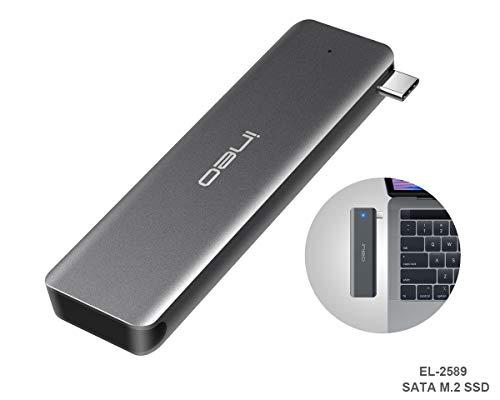 ElecGear USB 3.1 Gen2 Caja Carcasa SATA M.2 SSD, EL-2589