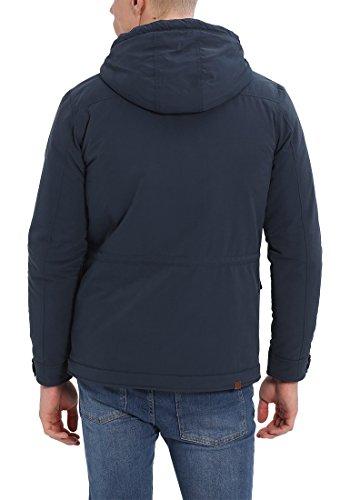 BLEND Cirocco Herren Winterjacke Jacke im Vintage-Look mit Stehkragen und Kapuze aus hochwertiger Materialqualität Navy (70230)