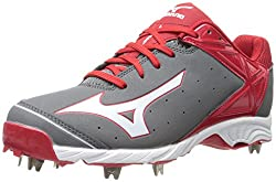 Mizuno Usa Mens Mens 9-Spike ADV Swagger Baseball Cleat,Grey/Red,11 D US