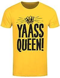 T-Shirt Yaass Queen! Homme Jaune