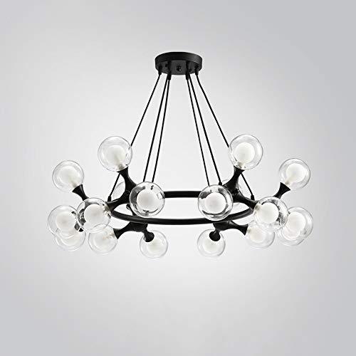LIUX Einfache moderne licht luxus wohnzimmer kronleuchter restaurant schlafzimmer studie lampe mode glas blase led beleuchtung kreative persönlichkeit energiesparende auge kronleuchter