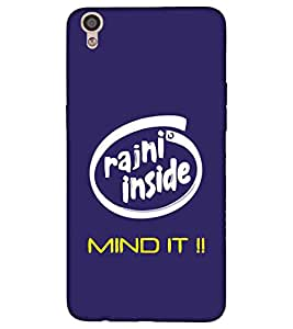 For Oppo F3 Plus rajni inside mind it ( rajni inside mind it, good quotes, blue background ) Printed Designer Back Case Cover By CHAPLOOS