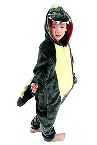 FashionFits Kid's Unisex Dinosaur Cosplay Pyjamas Sleepwear One Piece Jumpsuit