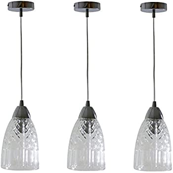 Set of 3 marco tielle cylinder crystal glass pendant ceiling lights set of 3 marco tielle cylinder crystal glass pendant ceiling lights with chrome trim aloadofball Gallery
