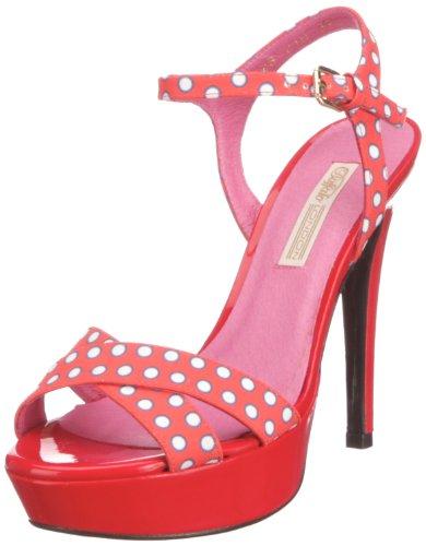 Buffalo London 10628-210 PRADOTS WHITE 1269, Damen Fashion-Sandalen Rot (Red)
