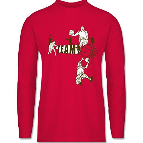 Basketball - Basketball Team - Longsleeve / langärmeliges T-Shirt für Herren Rot