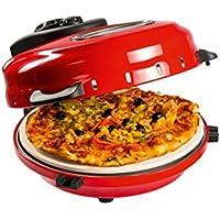Domoclip DOC119 - Horno individual para pizza, 1200 W, color rojo