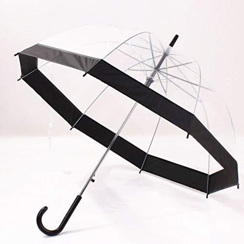 Shaoyanger paraguas transparente mango largo forma