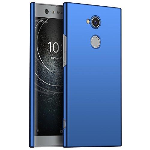 GOGME Sony Xperia XA2 Hülle, Stilvoller Ultradünne Handyhülle Hart Schutz Schutzhülle Für Sony Xperia XA2. Der Einfachste Und Effektivste Schutz Abdeckung des Telefon. blau
