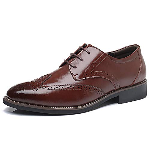 Men s Modern Dress Shoes Formal Wingtip Lace up Oxford Shoes(brown47) 2244a112266