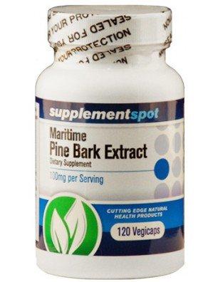 Maritime Kiefernrinden Extraktes, 120 Kapseln, 100 mg Dr. Oz Empfehlung gesunden Cholesterinspiegel, verbessert das Erinnerungsvermögen, Prostata-Funktion (Progesteron-creme Natürlichen Aus)