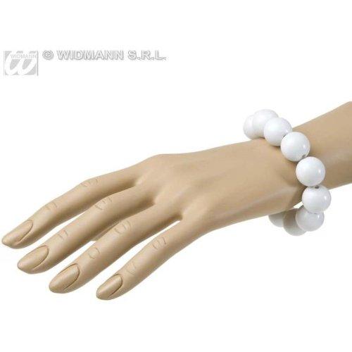 NEU Armband, 70er Jahre, Perlen, weiß