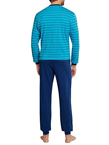 Seidensticker Herren Zweiteiliger Schlafanzug Seidensticker Anzug Lang Blau