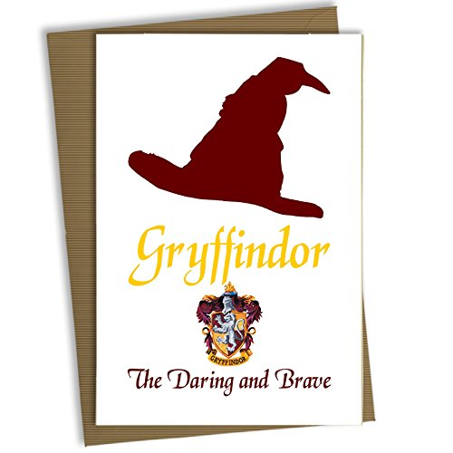 Harry Potter Birthday Card Greetings Christmas Hogwarts Gryffindor