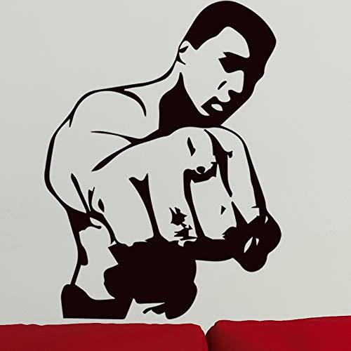 Yaonuli Boxing Man Pattern Creative Wall Sticker Boy decoración del hogar Dormitorio Papel Autoadhesivo...