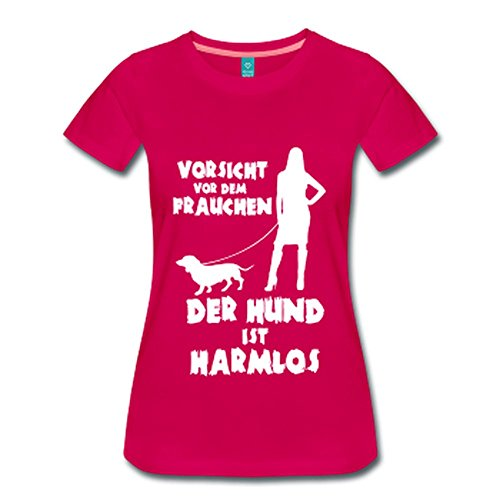 Dackel: Vorsicht vor dem Frauchen – der HUND ist HARMLOS Dunkles Pink