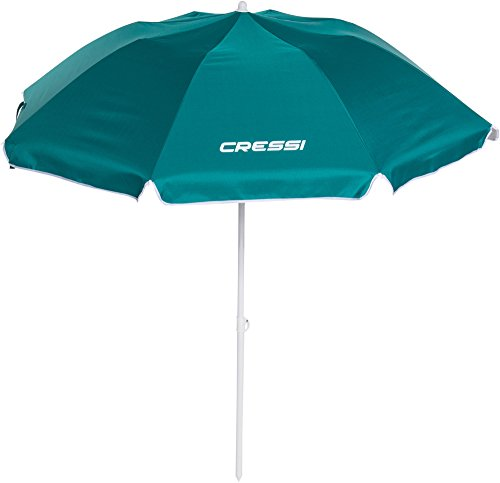 Cressi Sub S.p.A. Beach Umbrella Folding Parasols Mixte Adulte, Vert, Uni