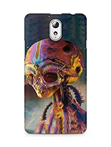 Amez designer printed 3d premium high quality back case cover for Lenovo Vibe P1M (Alien art colorful)