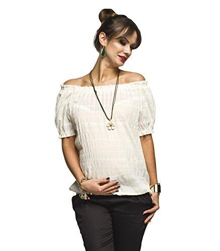 Schwangerschaftsbluse elegant weiß
