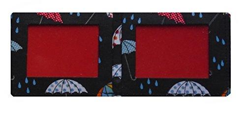 jours de pluie parapluies Impression Oyster/Porte-carte de transport – fini laminé
