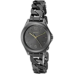 DKNY (DNKY5) Women's Quartz Watch with Black Dial Analogue Display and Black Stainless Steel Bracelet NY2426