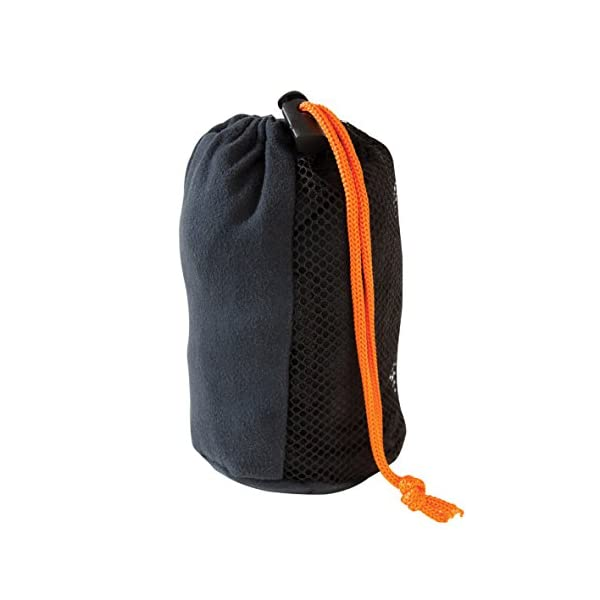 Milestone Camping 20370 Microfibre Towel, Black, Large, 120cm x 60cm